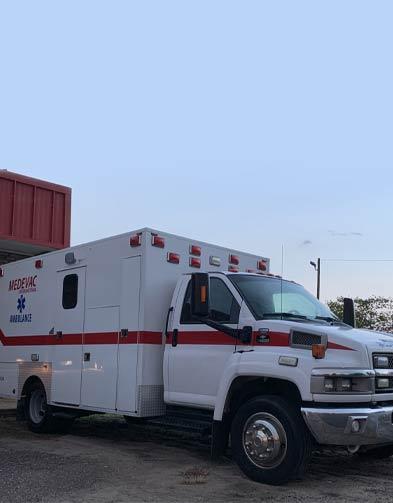 medevac ambulance truck